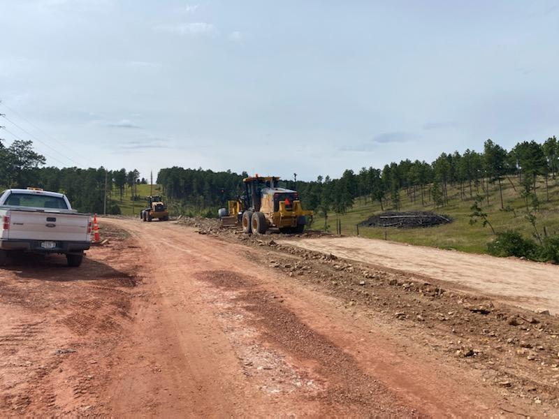 Grading Sheridan Lake Road from Spring Canyon Trail toward Norseman Lane 2020-08-31