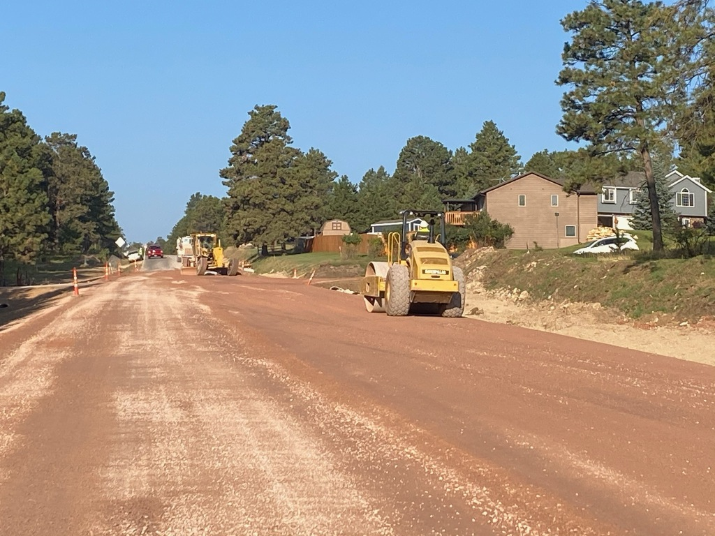 Placing Gravel by Norseman Lane 2020-09-22