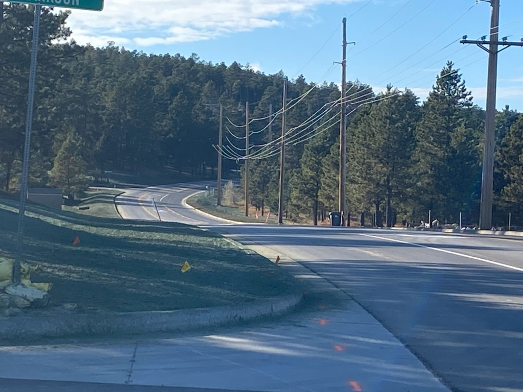 Striping Complete on this Phase of Sheridan Lake Road Reconstruction 2020-11-09