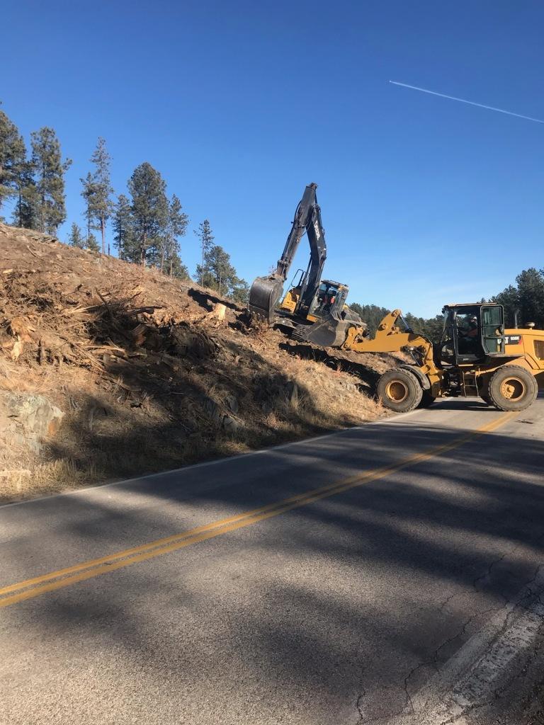 Stump Clearing Along Sheridan Lake Road 2020-12-21