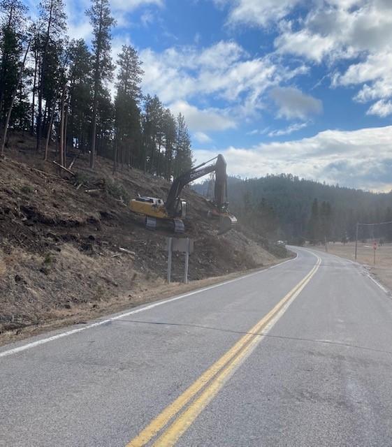 Stump Removals along Sheridan Lake Road 2021-01-08
