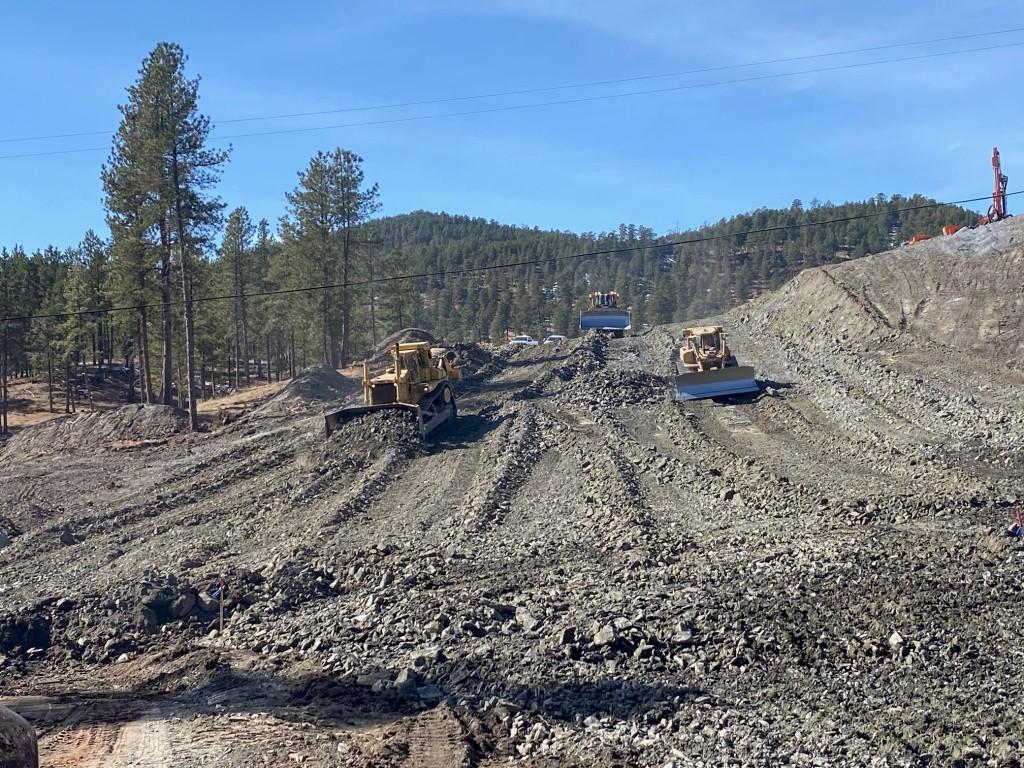 Excavation along new road alignment of Sheridan Lake Road 2021-03-09