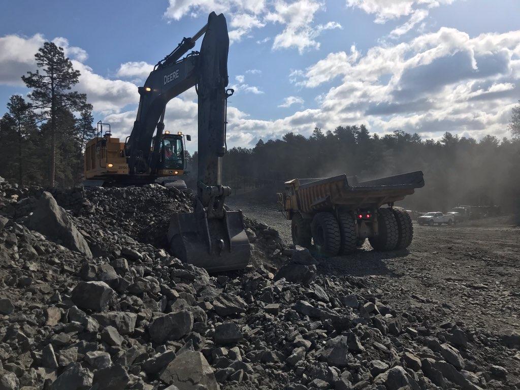 Roadway excavation for Sheridan Lake Road in Pennington County, South Dakota, Monday, April 12, 2021