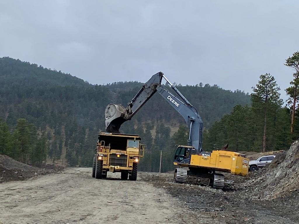 Roadway Excavation on Sheridan Lake Road in Pennington County, South Dakota, Monday, May 10, 2021