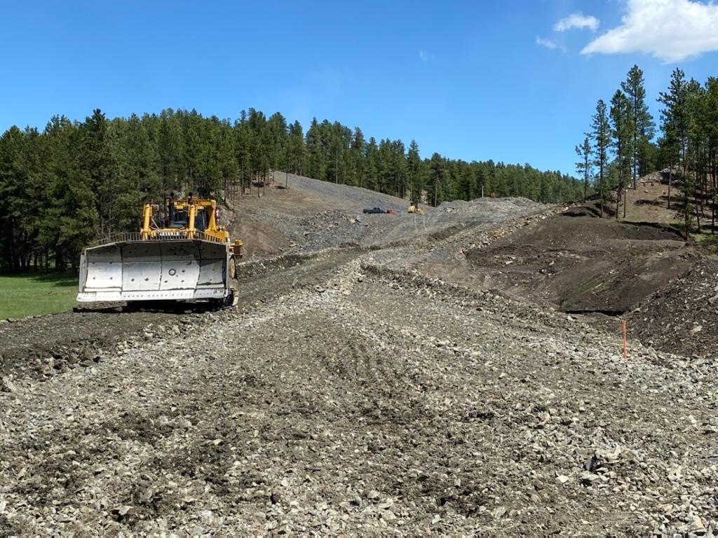 Roadway Excavation on Sheridan Lake Road in Pennington County, South Dakota, Monday, May 24, 2021.