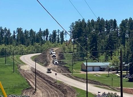 Fill Operation on Sheridan Lake Road East of Rockwood Road in Pennington County, South Dakota, Tuesday, June 7, 2021.