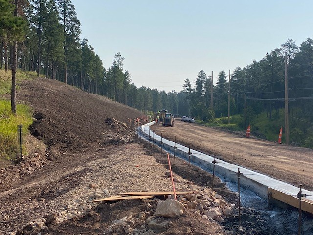 Curb, and Gutter at Victoria Lake Rd. to Sta. 482+00, Pennington County, South Dakota, Monday, August 2, 2021.