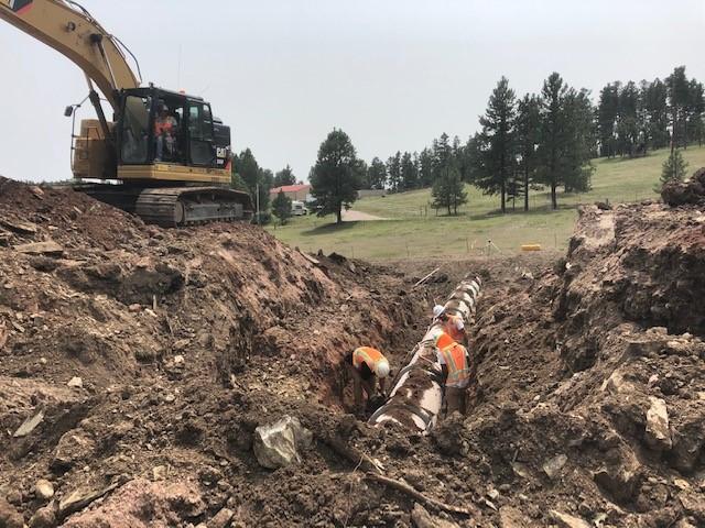 "30"" Storm Pipe Crossing Install, Pennington County, South Dakota, Monday, August 9, 2021."