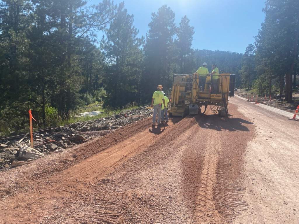 Trimming for Curb and Phase 1, on Sheridan Lake Road, Pennington County, South Dakota, Wednesday, September 8, 2021.