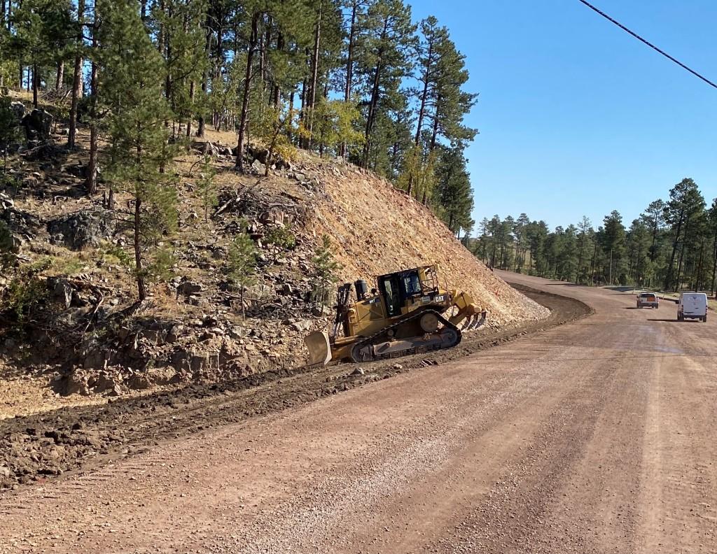 Topsoil Placement, on Sheridan Lake Road, Pennington County, South Dakota, Monday, September 27, 2021.